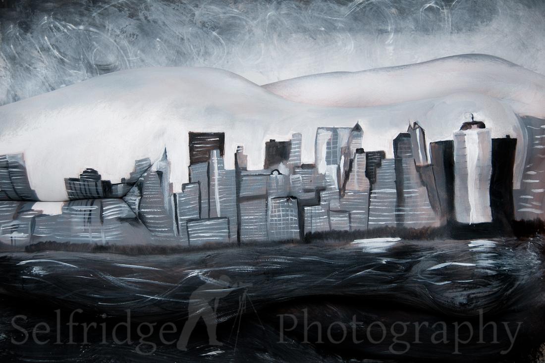 NYC Skyline Bodypaint