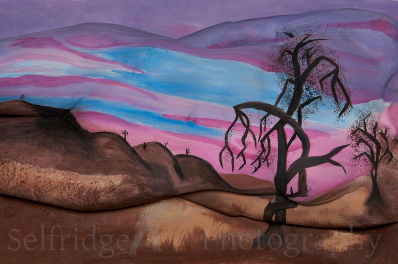 Purple Sunrise Bodypaint
